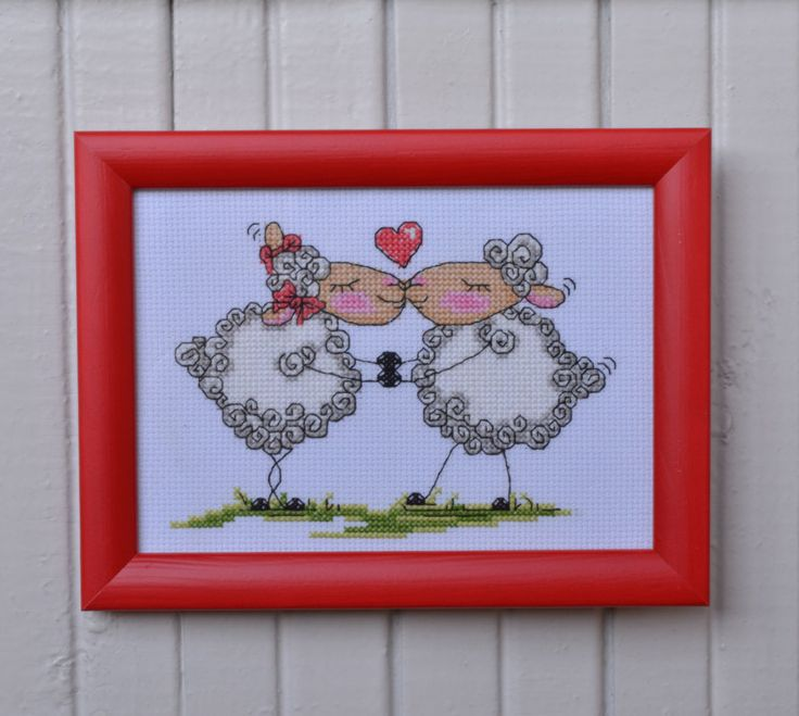 Sheep Wall Art Home Decor ~ Ideas about sheep cross stitch on pinterest