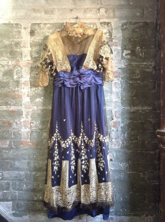 Beaux Arts Antique Gown for study c. 1915-Downton by MinaLucinda