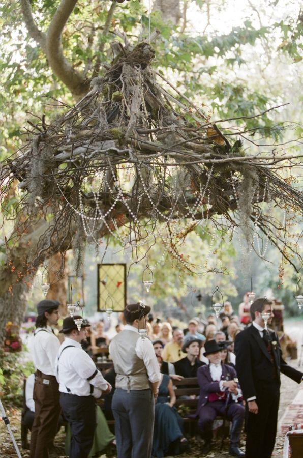 Steampunk Faerie wedding! I LOVE this!