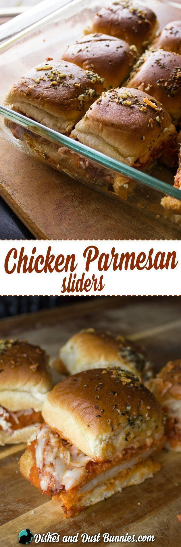 Baked Chicken Parmesan Sliders - So Easy & Delicious! Great as an appetizer, lunch or dinner sandwich.