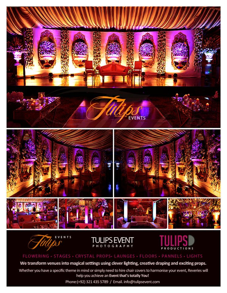 Beautiful Pakistani Wedding Walima Stage and Decore Perks.  Arrangement by: www.tulipsevent.com
