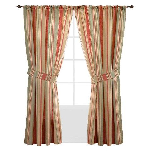 Waverly Spring Bling Lined Curtain Panel Pair Vapor Blue