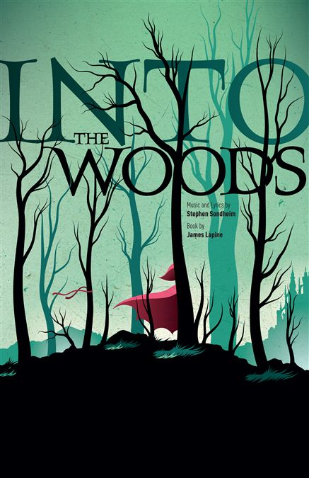 Into The Woods Poster Design. Very effective use of colour.
