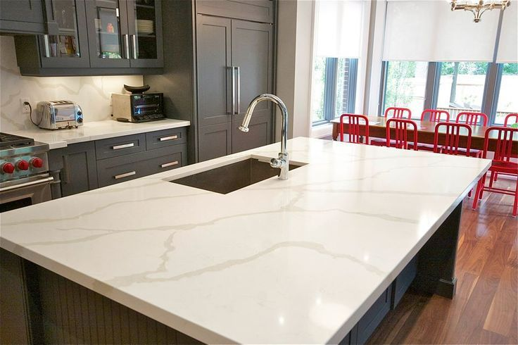 Calacatta Quartz Does A Beautiful Job Of Embracing The