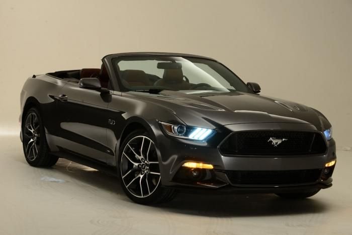 2015 ford mustang convertible.  Red! Very Cool! Dream Car