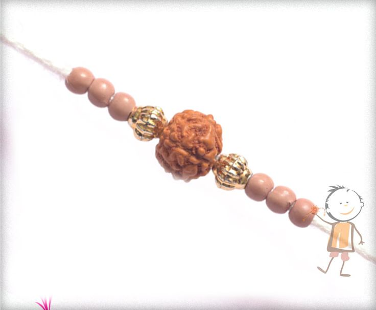 Rudraksh #Rakhi Collection 2015 – Send  #Rakhi to #India, #USA, #UK, #Canada, #Australia, #Dubai #NZ #Singapore. Simple Rudraksh Rakhi with White Thread, surprise your loved ones with roli chawal, chocolates and a greeting card as it is also a part of our package and that too without any extra charges. http://www.bablarakhi.com/send-fancy-rakhi-online/1003-send-simple-rudraksh-rakhi-with-white-thread-online.html