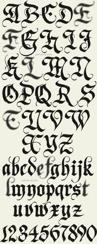 Fuentes membrete / Dark Horse / Gothic Fuentes