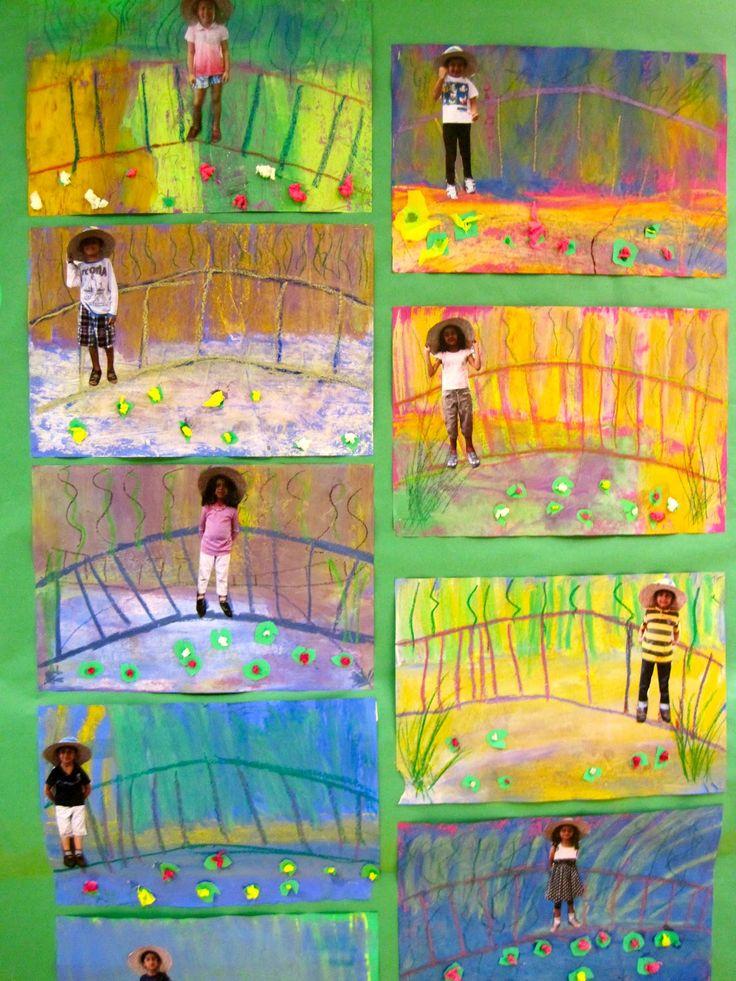Artista: MONET, Claude ------------ Me in Monet's Garden Princess Artypants: Kindergarten