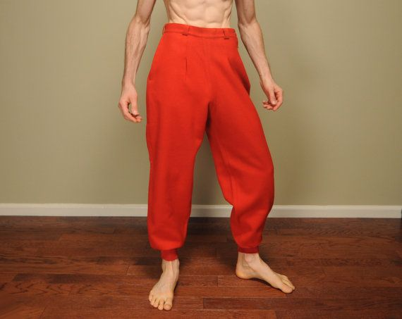 vintage 50s Woolrich pants red wool hunting by CarnivalOfTheManiac