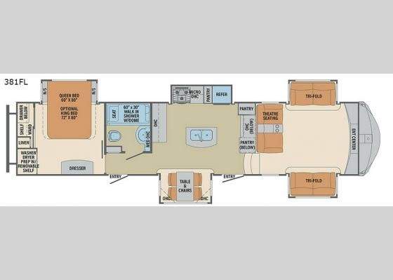 New Palomino Columbus F381FL Fifth Wheel for Sale | Review Rate Compare Floorplans - RVingPlanet