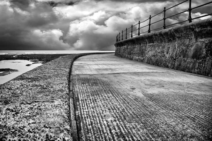 My latest image. Sea Wall, Scarborough, UK. A North Sea battered wall , Yorkshire coastline.