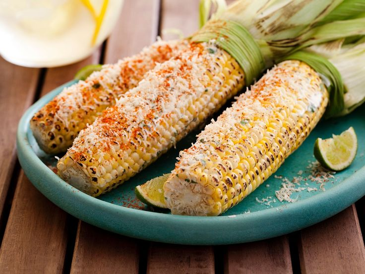 Mexican Grilled Corn recipe from Tyler Florence via Food Network