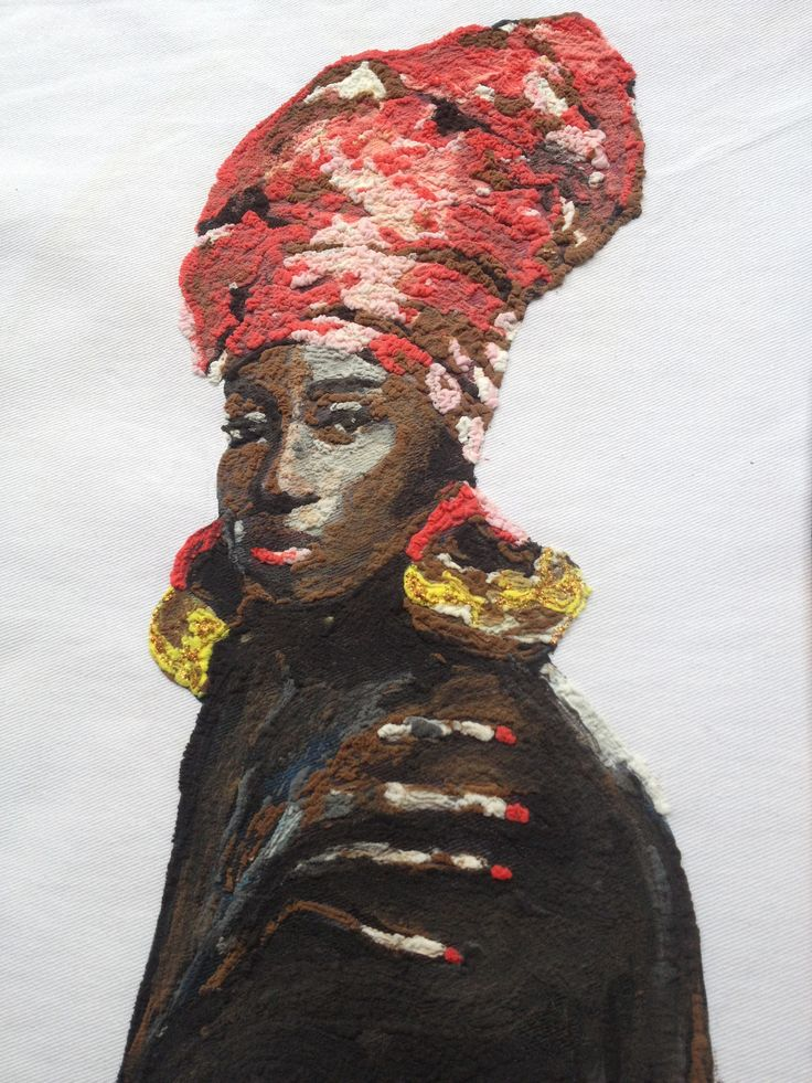 AFRICAN QUEEN T-SHIRT Painted on relief