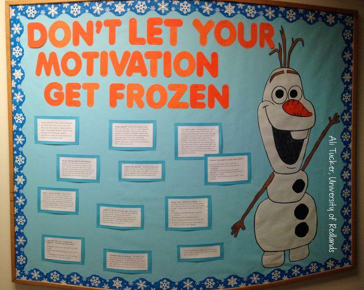 Frozen inspired bulletin board