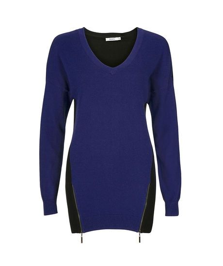 Colourblock Zipper Detail Tunic in Cobalt / Black (more colours available) #rickis #fall2014