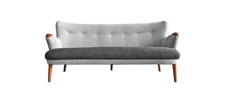 teak, oak, danish 50's sofa, scandinavian sofa, Denmark, mid century