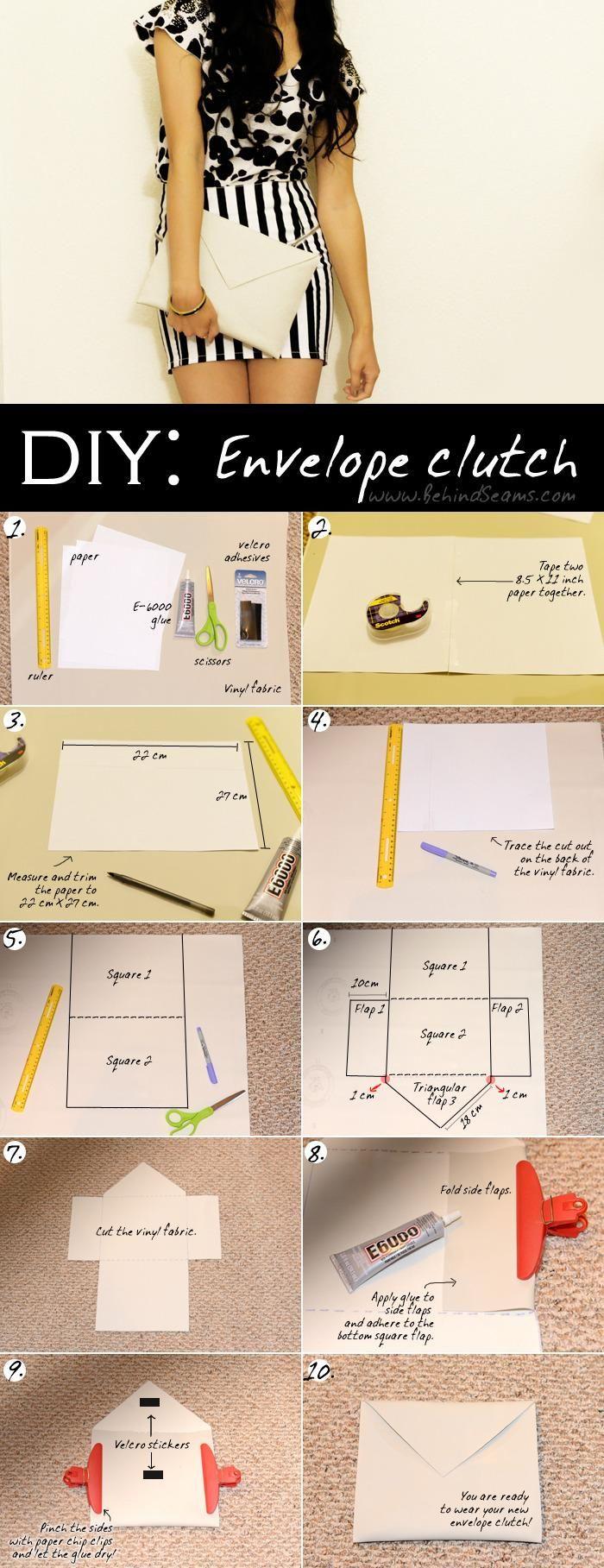 DIY CLUTCH : DIY: Envelope Clutch