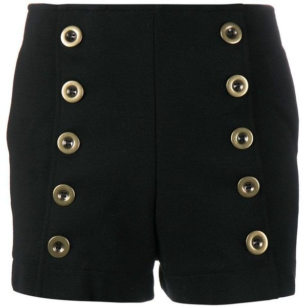 Chloé military shorts (11.377.250 IDR) ❤ liked on Polyvore featuring shorts, black, formal shorts, pocket shorts, military style shorts, military shorts and short shorts