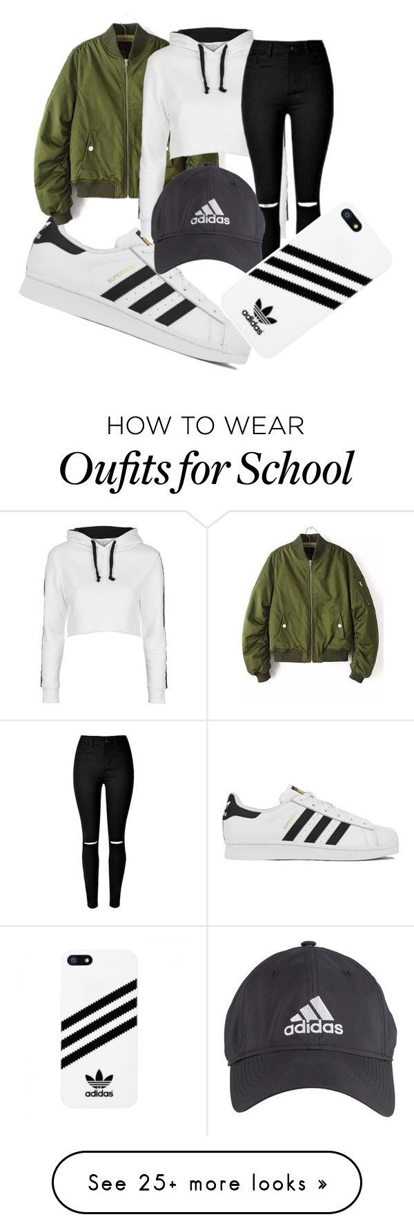 """school trip"" by damarisvasco on Polyvore featuring adidas, Topshop and ADDIDAS"