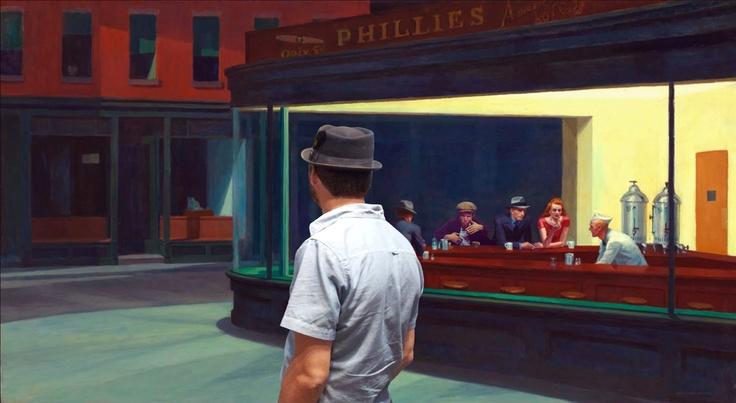 Dennis walks towards a bar