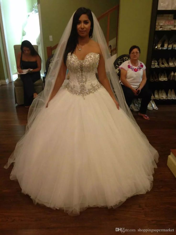 Discount 2017 New Strapless Formal A Line Wedding Dresses Sexy Chest Nets Stitching Beaded Crystal Wedding Church Long Tail Bride Wedding Dress Tea Line Wedding Dresses Top Of The Line Wedding Dresses From Shoppingsupermarket, $132.37| Dhgate.Com