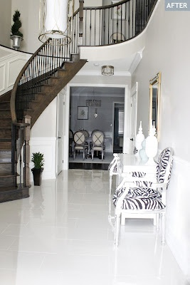 New Foyer Tile, 12x24 Crema Marfil Polished Porcelain Tile