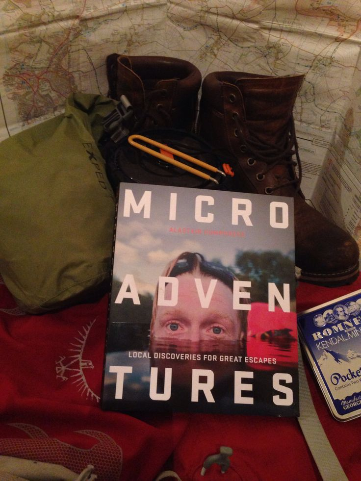 Inspiration for a year of micro adventures first one coming up this weekend ! Getting ready, #AlastairHumphreys