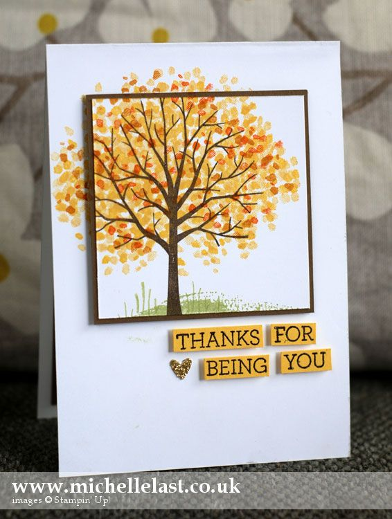 Sheltering Tree from Stampin' Up! - Stampin' Up! Demonstrator Michelle Last