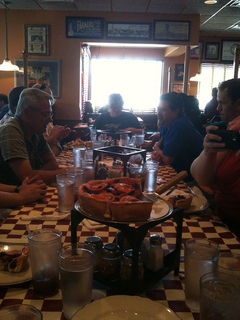 Group of TCers at Giordano's Famous Chicago Style Pizza restaurant.