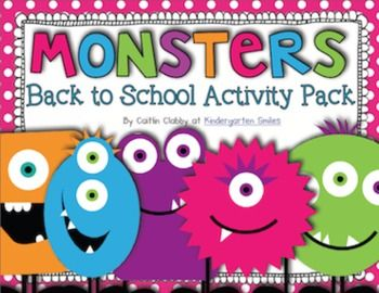 Monsters!  Back to School Activity Pack - I already have the story, but these 'monsters' are way cuter.  Ideas to update