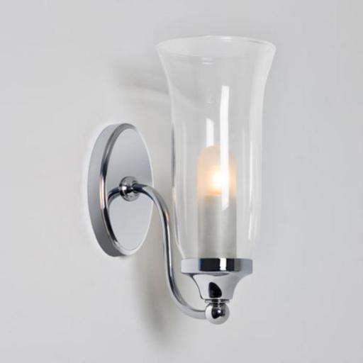 Люстрам.ру Бра для ванной комнаты Astro 7137 Biarritz, хром, белое матовое стекло