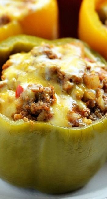Crock Pot Stuffed Bell Peppers Recipe ~ They are melt in your mouth good!