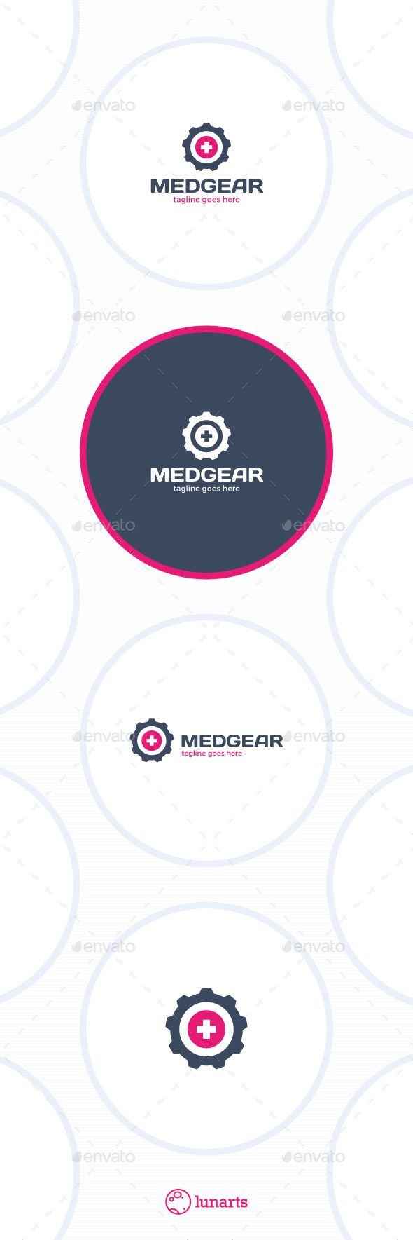 Medical Gear Logo  Plus — Vector EPS #cross #insurance • Available here → https://graphicriver.net/item/medical-gear-logo-plus/13269645?ref=pxcr