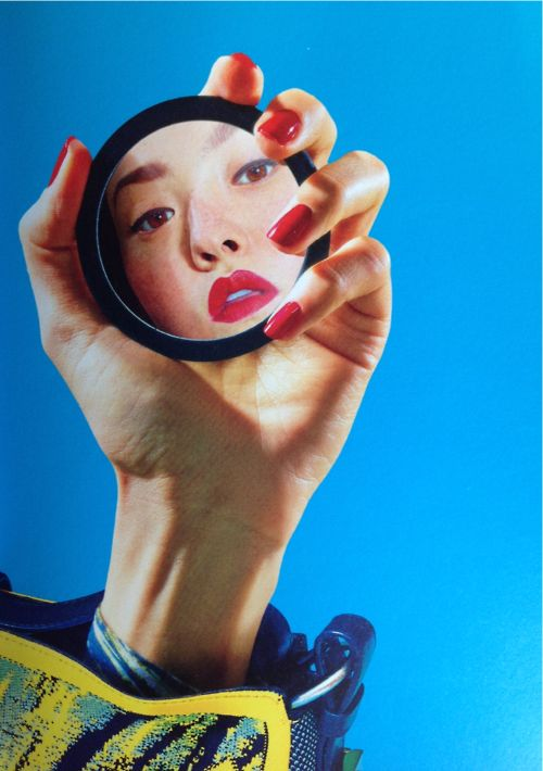 Devon Aoki in Kenzine vol.2 by Maurizio Cattelan and Pierpaolo Ferrari for Kenzo SS 2014.