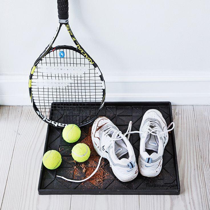 tica   copenhagen shoe tray. Perfect for the #tennis enthusiast. #cleanfloor