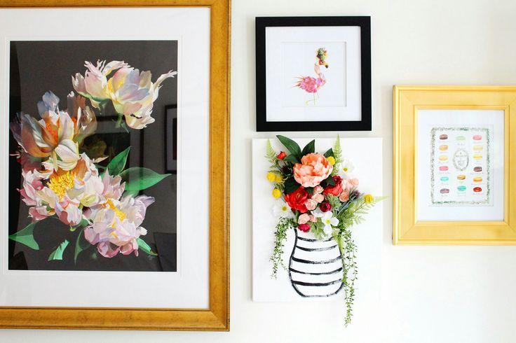 DIY 3-D Flower Canvas Art