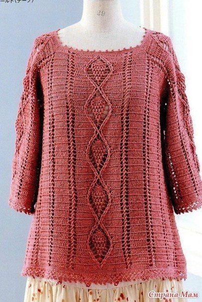 Delicadezas en crochet Gabriela: Blusa bien amplia