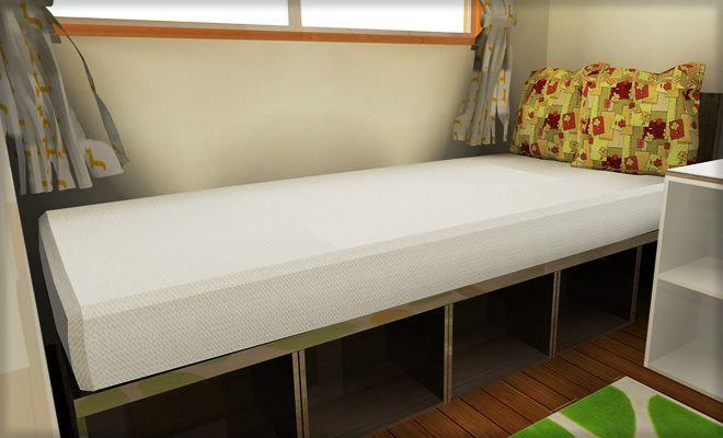カラーボックス家具で作る子供部屋のインテリア - インテリアハート カラボで作るシングルベッド. カラーボックス ...