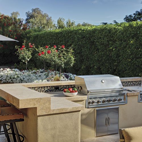 The Homeowners Requested A Place For Outdoor Cooking And Dining, So  Landscape Architect Greg Trutza