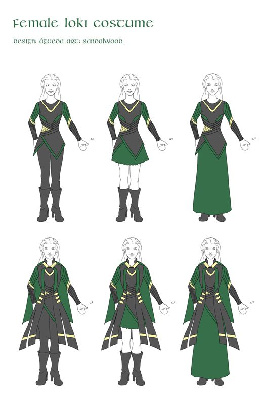 Female Loki costume by ~sandalwood01 on deviantART ~~ Just some ideas for Halloween. :)