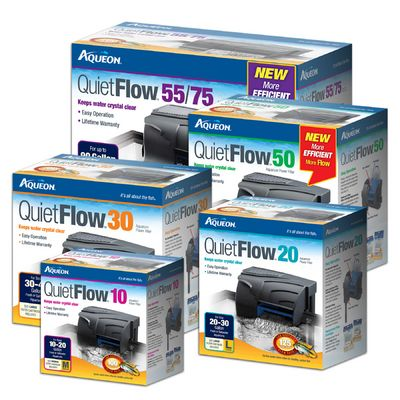 Aqueon QuietFlow hang-on aquarium filters are efficient and powerful, yet quiet. Available in 4 different sizes at Pisces!