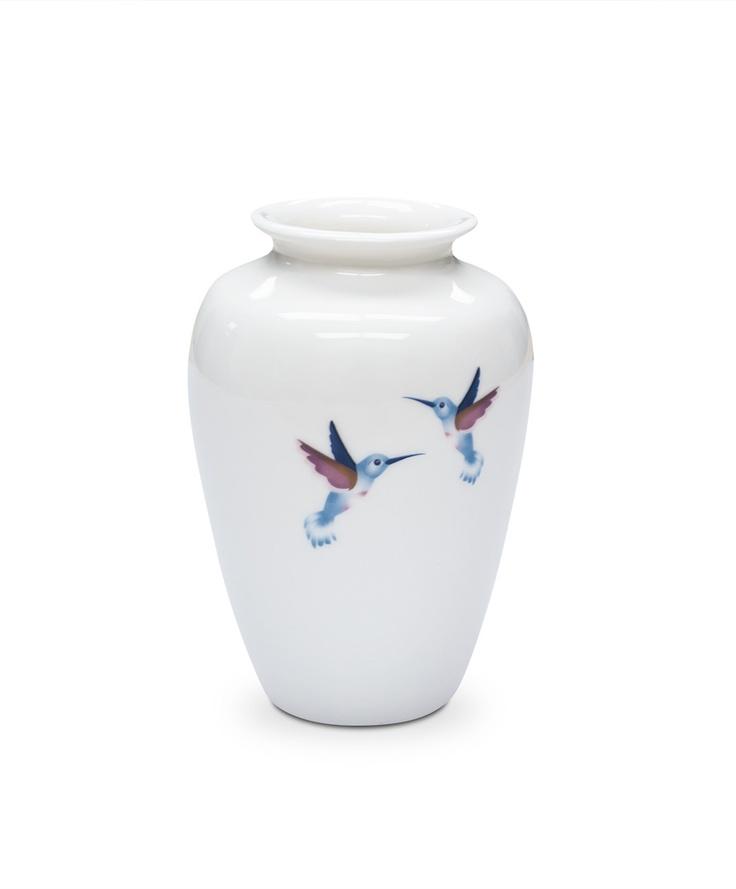 Hummingbird Bulb Vase by Ema Frost  $45 14cm high x 9cm round