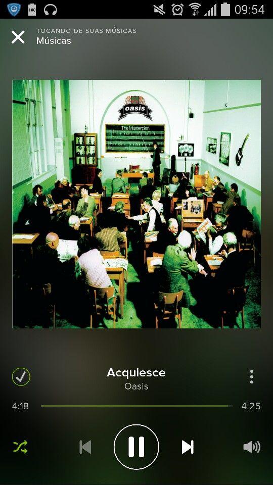 Oasis _ Acquiesce  depois de tanto tempo essa musica ainda mexe comigo.. #Oasis #Music #Spotify