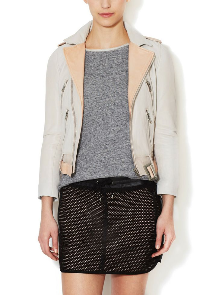 Ader Leather Jacket by Maje at Gilt