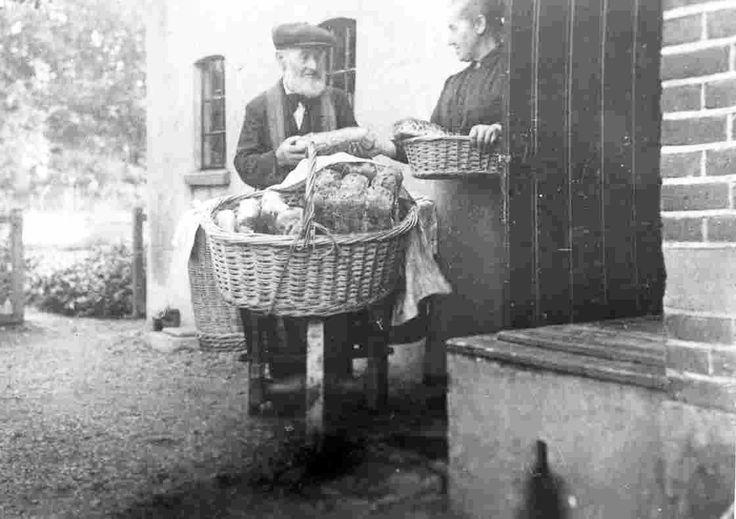 brood bezorgen met behulp van een kruiwagen heerde