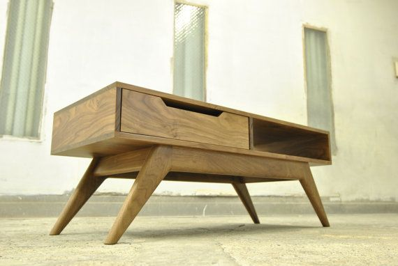 Mid Century Inspired Walnut Coffee Table