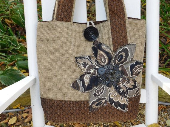 Brown Large Fabric Tote Bag Womens by BerkshireCollections on Etsy #integritytt