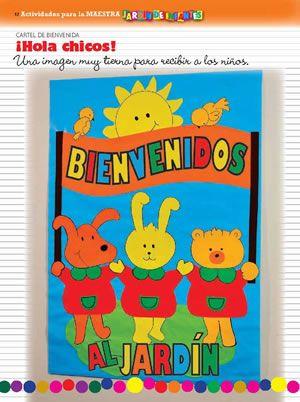 Actividades para la maestra 2014 n 01 cartel de for Cancion de bienvenida al jardin