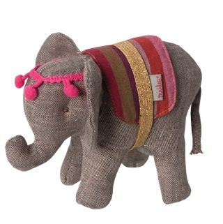MAILEG CIRCUS ELEPHANT - $24.95 - From the children's Circus range the adorable circus elephant is perfect for stimulating young minds and develop imaginative thinking and play.  Your little one will love to play with the circus characters and perform their very own circus show. #sweetcreations #kids #gifts #maileg #circus