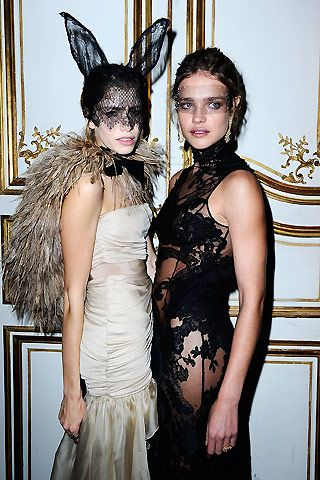 Vogue Paris's 90th Anniversary Ball | Elena Perminova & Natalia Vodianova